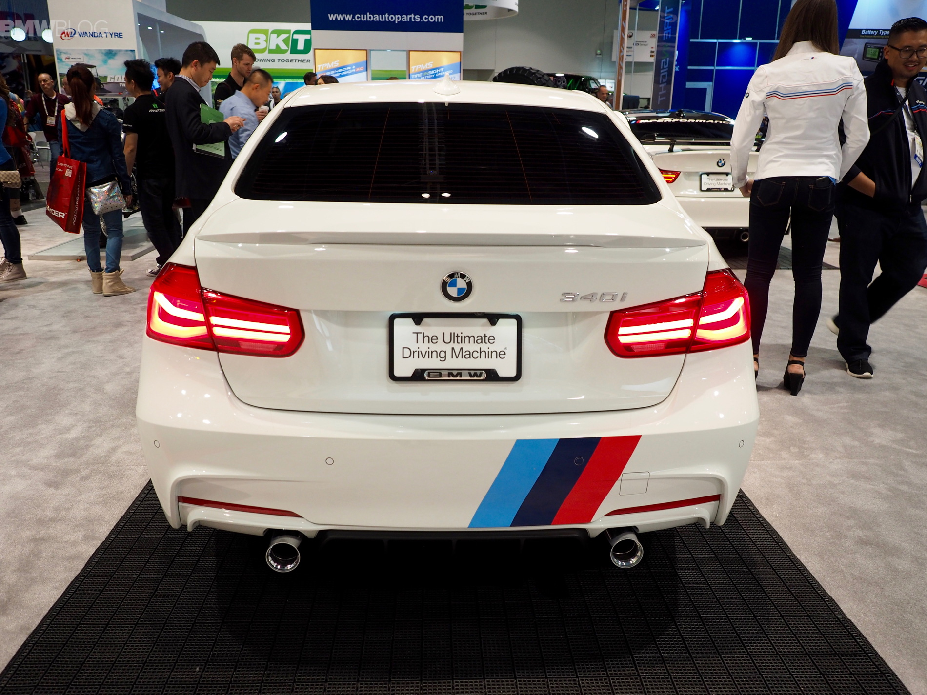 new 340i with m performance power kit launched at sema. Black Bedroom Furniture Sets. Home Design Ideas